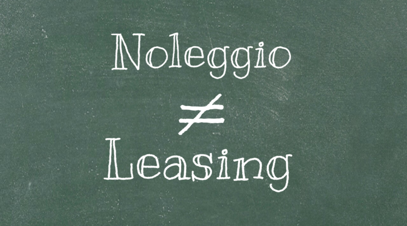 Differenze Noleggio Leasing