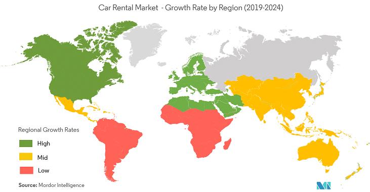Autonoleggio nel mondo: +7,5% entro il 2024